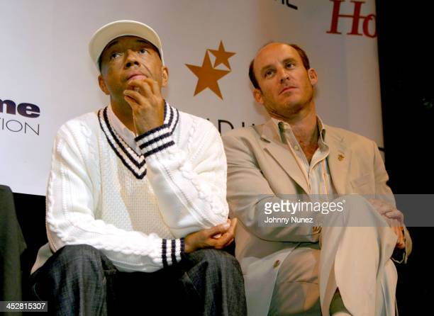Russell Simmons, CEO of Phat Farm and Ted Waitt, founder of Gateway