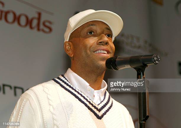 Russell Simmons CEO of Phat Farm during Founding Fathers Declaration Against Domestic Violence Signing at John Housman Theatre in New York City New...