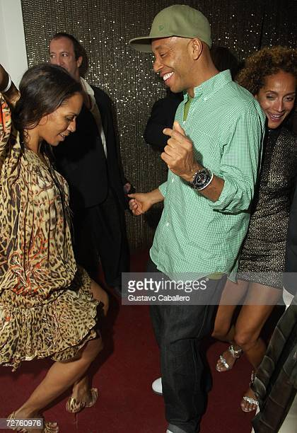 Russell Simmons dances in the early morning hours at the Stellan Holm Gallery Sante D'Orazio's Katlick School Launch hosted by Imperia Vodka at...