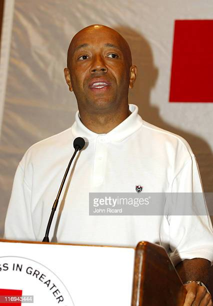 Russell Simmons during BET National Urban League and American Red Cross Announce Hurricane Katrina Benefit Telethon at American Red Cross in New York...