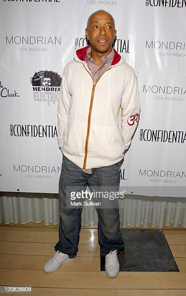 Russell Simmons during Los Angeles Confidential Magazine in Association with Morgans Hotel Group Celebrates the 2007 Oscars with Forest Whitaker Rob...