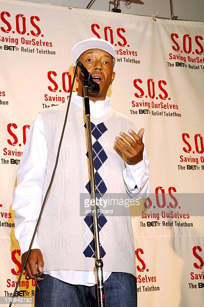 Russell Simmons during SOS The BET Telethon Relief Press Room at CBS Studios in New York New York United States