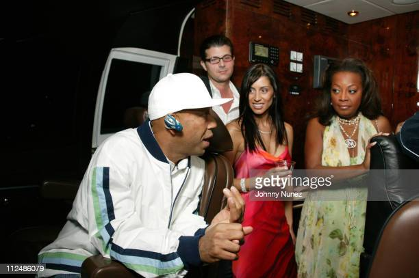 Russell Simmons guest Shamin Abas and Star JonesReynolds