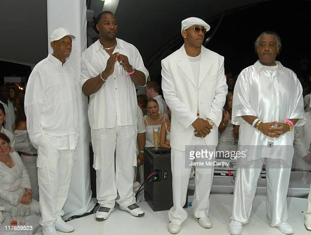 Russell Simmons Lennox Lewis LL Cool J and Al Sharpton at the PS2 Estate