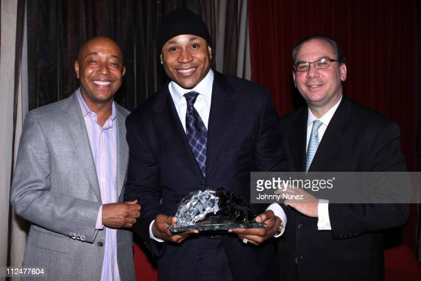 Russell Simmons LL Cool and Rabbi Marc Schneier attend the Foundation for Ethnic Understanding New York Spring Benefit Hosted by Russell Simmons...