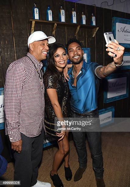 Russell Simmons Miguel and Rosario Dawson attend The 6th Annual Bombay Sapphire Artisan Series Grand Finale Cohosted By Russell Simmons And Rosario...