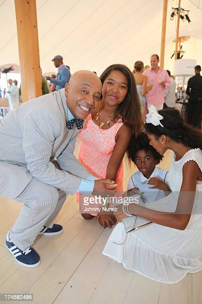 Russell Simmons Ming Lee Simmons Kenzo Lee Hounsou and Aoki Lee Simmons attend the 14th Annual Art For Life Gala A Field Of Dreams at Fairview Farms...