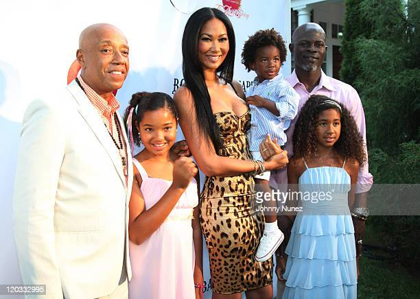 Russell Simmons Ming Lee Simmons Kimora Lee Simmons Kenzo Lee Hounsou Djimon Hounsou and Aoki Lee Simmons attend the 12th annual Art for Life benefit...