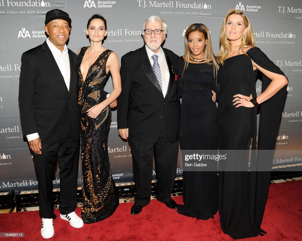 Russell Simmons, model Hana Nitsche, Tony Martell, Angela Simmons and Grace Potter attend The T.J. Martell Foundation 37th Annual Honors Gala at Cipriani 42nd Street on October 23, 2012 in New York City.