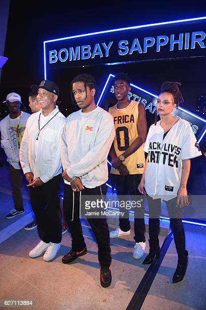 Russell Simmons rapper ASAP Rocky and actress Sasha Lane attend the 7th Annual Bombay Sapphire Artisan Series Finale hosted by Russell and Danny...