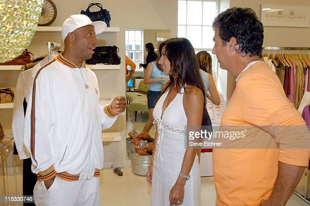 "Russell Simmons, Shamin Abas and Andrew Rosen during Theory and Rush Philanthropic Arts Foundation Host Shopping Day to Benefit VH1's ""Save The..."