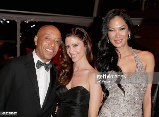 Russell Simmons Shannon Elizabeth and Kimora Lee Simmons attend The Weinstein Company Netflix's 2014 Golden Globes After Party presented by...