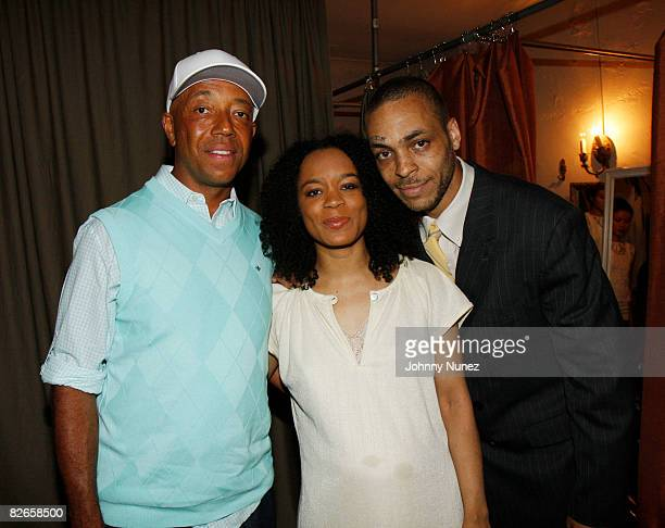 Russell Simmons Shon Simmons and Jamel Simmons attend the Lolli by Reincarnation Fashion Cocktail Presentation at 85 Stanton on September 3 2008 in...