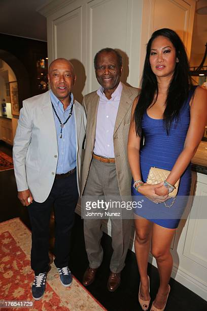 Russell Simmons Sidney Poitier and Kimora Lee Simmons attend the Foundation For Ethnic Understanding Benefit on August 14 2013 in West Hollywood...