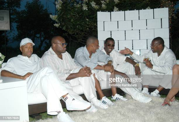 Russell Simmons Steve Stoute JayZ Sean Diddy Combs and Andre Harrell