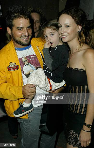 Russell Steinberg and Antonia with Jenni Kayne during MercedesBenz Shows LA Fashion Week Spring 2004 Jenni Kayne Backstage and Front Row at The...