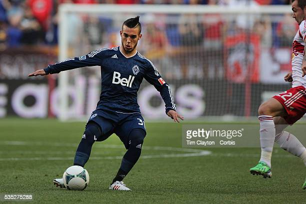 Russell Teibert, Vancouver Whitecaps, in action during the New York Red Bulls V Vancouver Whitecaps FC, Major League Soccer regular season match at...
