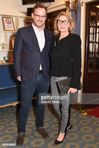 Russell Thomas and Kim Cattrall arrive at the press night performance of 'Consent' at the Harold Pinter Theatre on May 29 2018 in London England