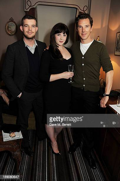 Russell Tovey Alexandra Roach and Benedict Cumberbatch attend the Esquire and Tommy Hilfiger party celebrating London Collections MEN AW13 hosted by...