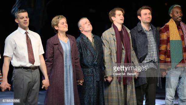 Russell Tovey Denise Gough Nathan Lane Andrew Garfield James McArdle and Nathan StewartJarrett attend the press night performance of 'Angels In...