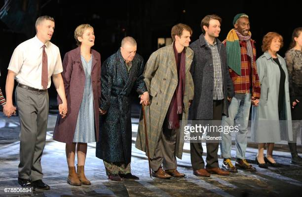 Russell Tovey Denise Gough Nathan Lane Andrew Garfield James McArdle Nathan StewartJarrett and Susan Brown attend the press night performance of...