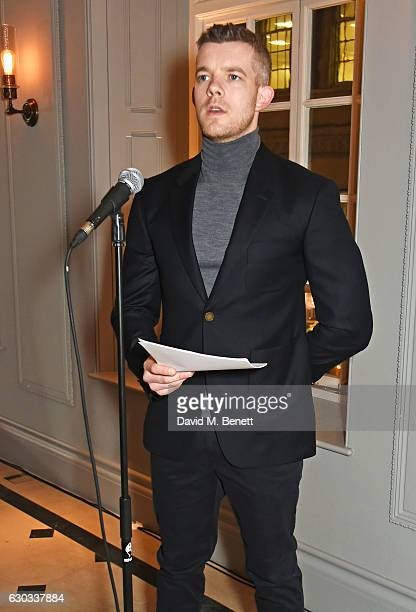 Russell Tovey performs at the live reading event hosted by Burberry with Pin Drop at Thomas's Burberry's allday British Cafe located on 5 Vigo Street...