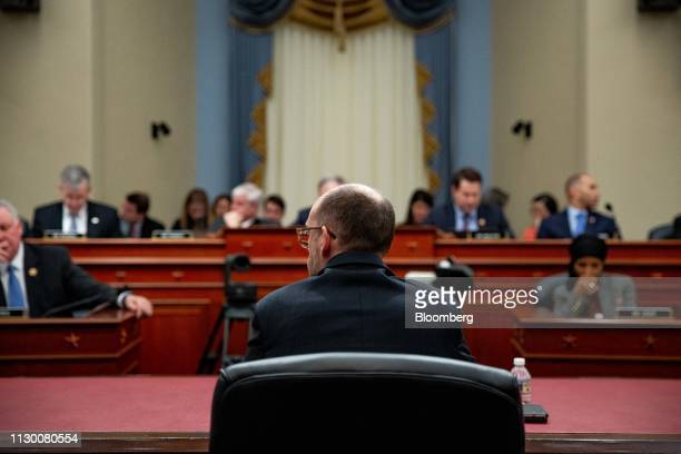 Russell Vought acting director of the Office of Management and Budget testifies during a House Budget Committee hearing in Washington DC US on...