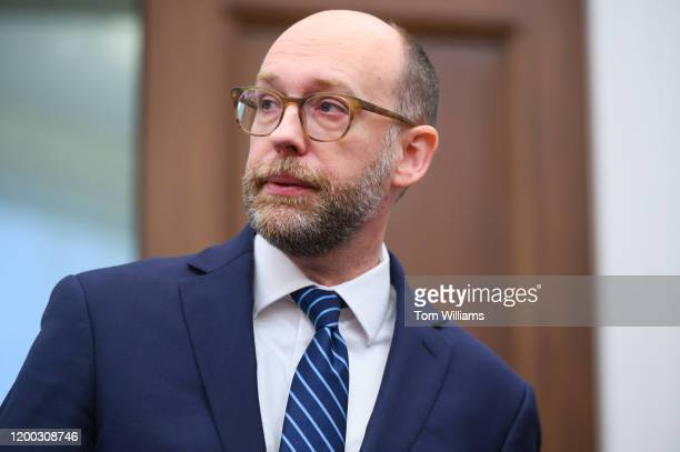 Russell Vought acting director of the Office of Management and Budget arrives to testify during the House Budget Committee hearing on The President's...