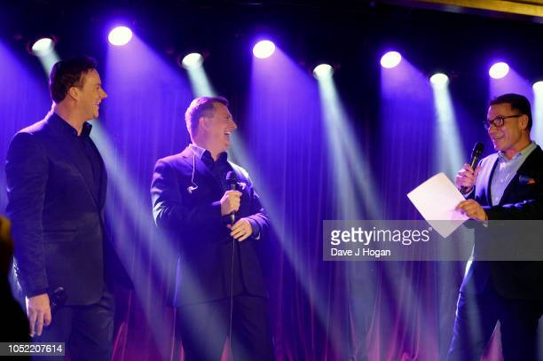 Russell Watson Aled Jones and Richard Arnold attend the 'In Harmony' album launch at The Arts Club on October 15 2018 in London England