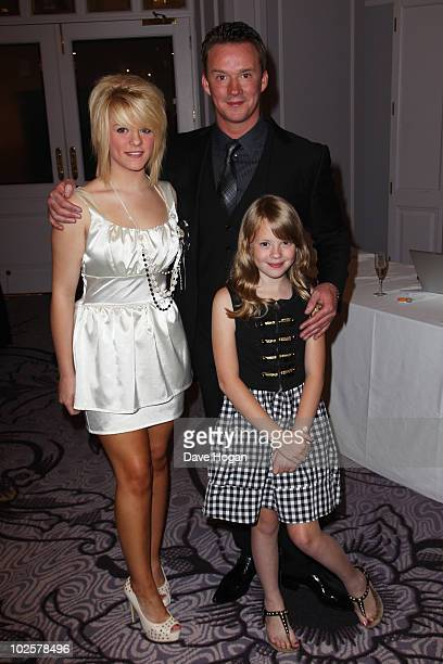 Russell Watson arrives with his daughters Hannah and Becky at The Nordoff Robbins Silver Clef Awards 2010 held at The London Hilton on July 2 2010 in...