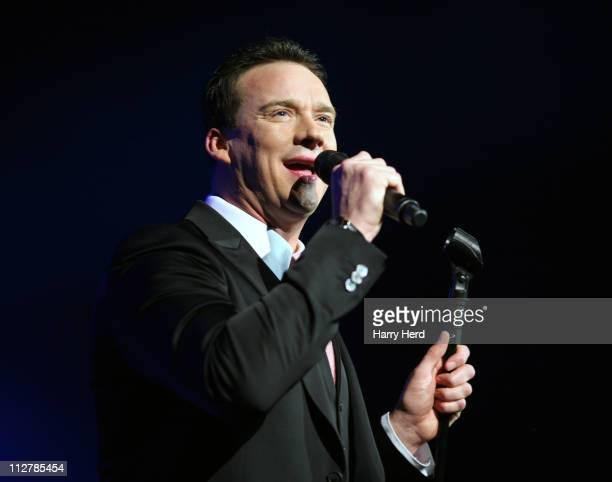 Russell Watson performs at Portsmouth Guildhall on April 21 2011 in Portsmouth England