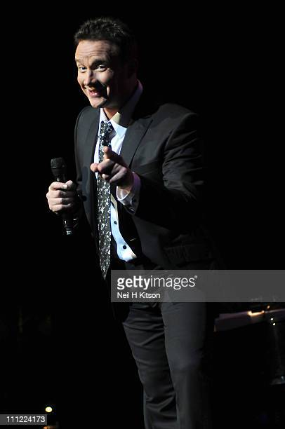 Russell Watson performs on stage at City Hall on March 30 2011 in Sheffield United Kingdom