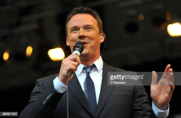 Russell Watson performs on stage at Kenwood House on July 18 2009 in London England