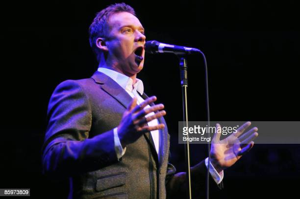 Russell Watson performs on stage at Royal Albert Hall on April 11 2009 in London England