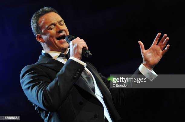 Russell Watson performs on stage at Royal Albert Hall on May 3 2011 in London United Kingdom