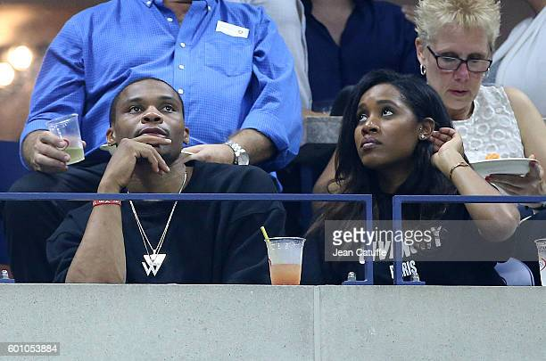 Russell Westbrook and his wife Nina Earl attend the women's semifinals during day 11 of the 2016 US Open at USTA Billie Jean King National Tennis...