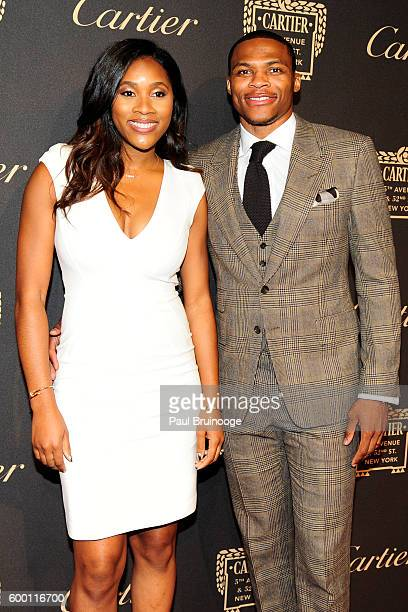 Russell Westbrook and Nina Westbrook attends the Cartier Fetes the Grand Opening of The Fifth Avenue Mansion at Cartier Mansion on SEPTEMBER 7 2016...