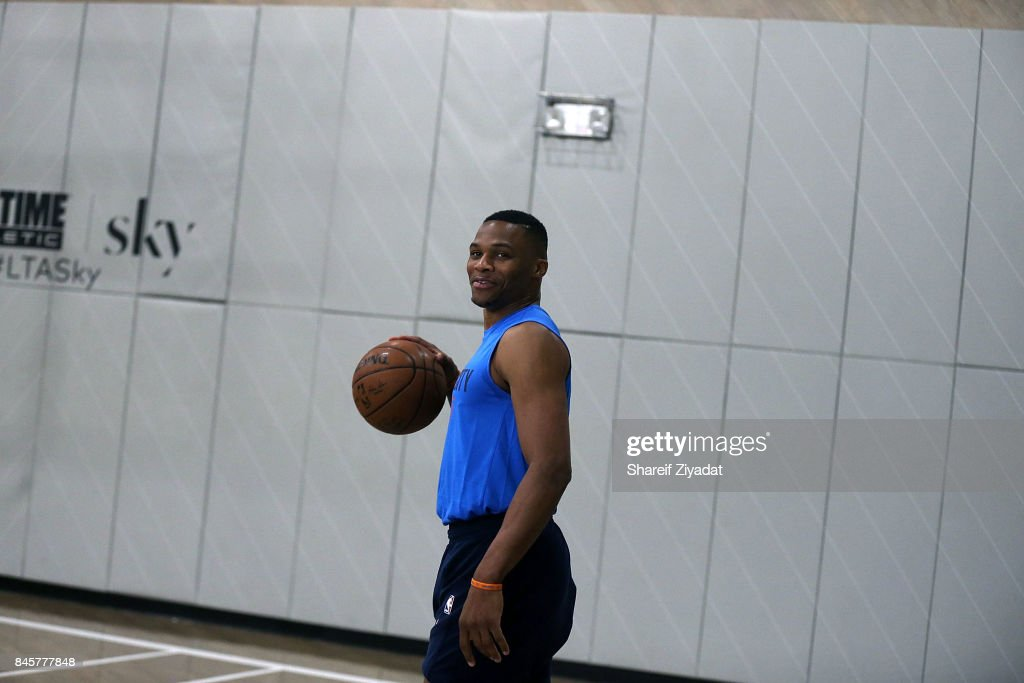 Russell Westbrook attends Black Ops Basketball Session at Life Time Athletic At Sky on September 11, 2017 in New York City.