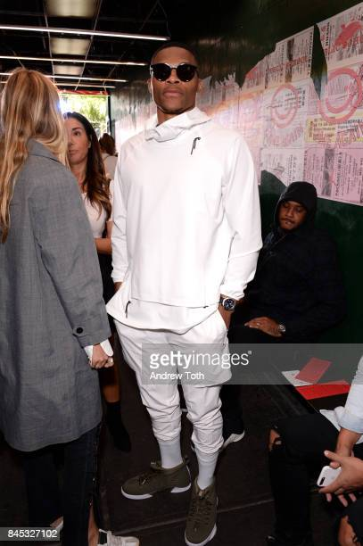 Russell Westbrook attends the Public School fashion show during New York Fashion Week on September 10 2017 in New York City