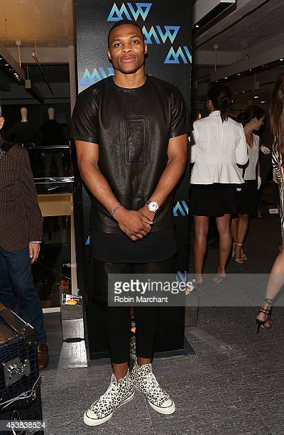 sale retailer 577c4 705f4 Russell Westbrook attends the Westbrook XO Barneys New York Limited Edition  Collection Launch Celebration at Barneys