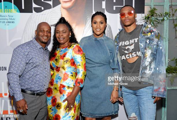 Russell Westbrook Jr Shannon Horton Nina Earl and Sports Illustrated Fashionable 50 honoree Russell Westbrook at Sports Illustrated 2017 Fashionable...