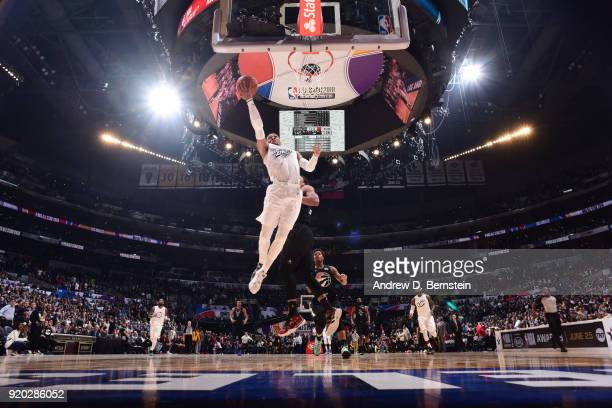 Russell Westbrook Of Team LeBron shoots the ball during the NBA AllStar Game as a part of 2018 NBA AllStar Weekend at STAPLES Center on February 18...