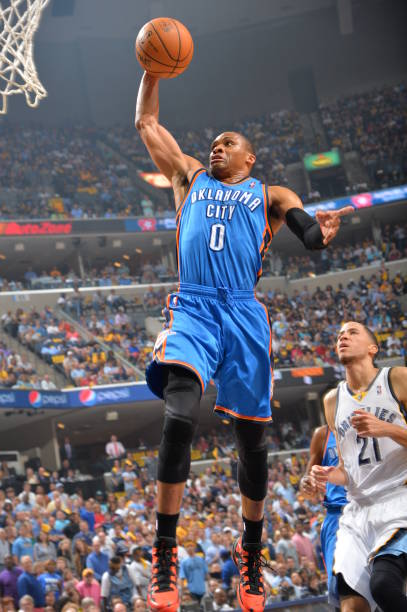Russell Westbrook of the Oklahoma City Thunder 12