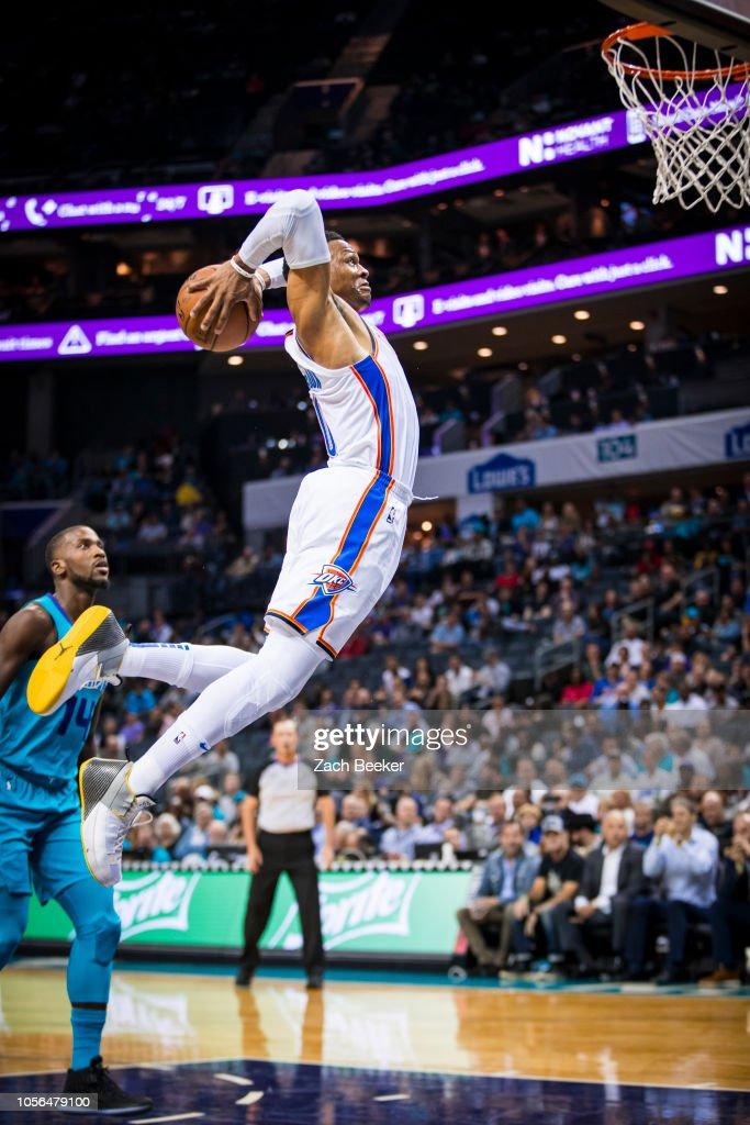 Oklahoma City Thunder v Charlotte Hornets : Nachrichtenfoto