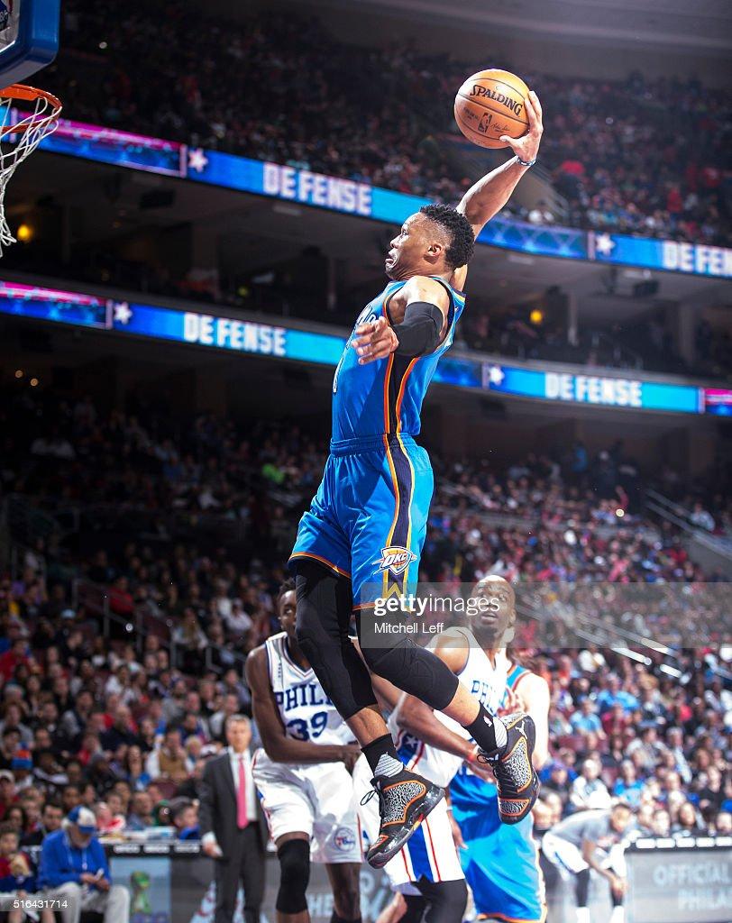 Oklahoma City Thunder v Philadelphia 76ers : News Photo
