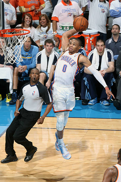 Russell Westbrook of the Oklahoma City Thunder