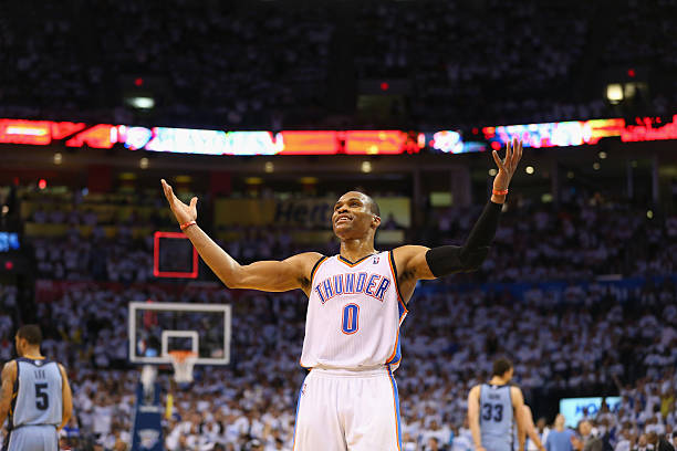 Russell Westbrook of the Oklahoma City Thunder 6