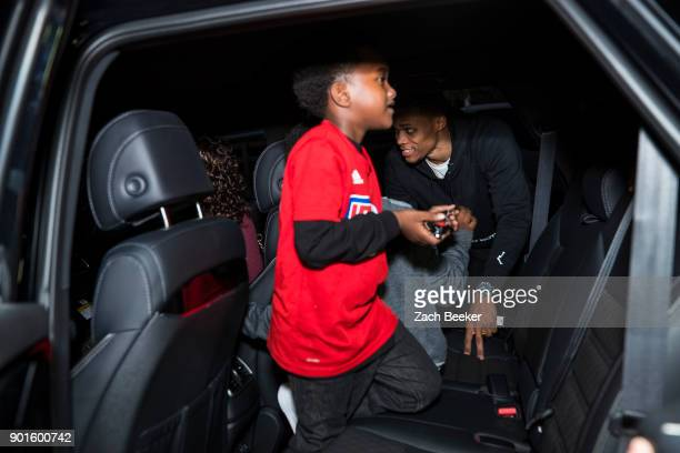 Russell Westbrook of the Oklahoma City Thunder in partnership with his Why Not Foundation and the United Way of Greater Los Angeles surprises the...
