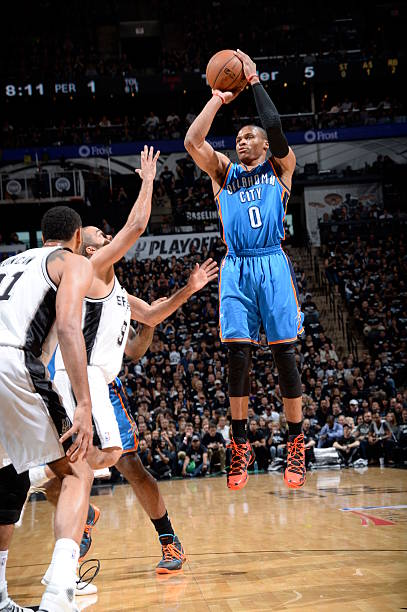 Russell Westbrook of the Oklahoma City Thunder W. Conference