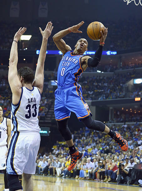 Russell Westbrook of the Oklahoma City Thunder 10